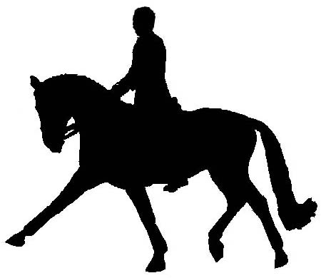 Horse silhouette dressage - photo#26